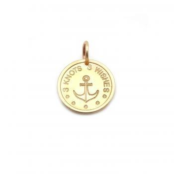 Anchor bronze pendant on meaningful, colorful satin wristband
